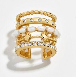 NWOT Anthropologie baublebar crystal earrings clip